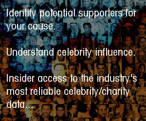 Insider access to the industry's most reliable celebrity/charity data