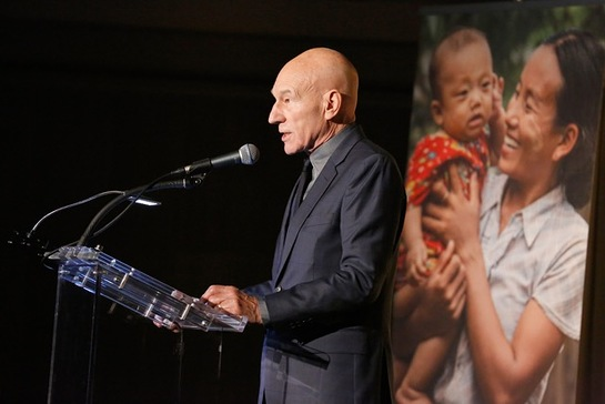 Sir Patrick Stewart at the International Rescue Committee's annual Freedom Award Dinner