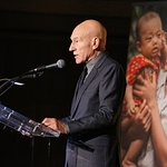 Sir Patrick Stewart Attends International Rescue Committee's Freedom Award Dinner