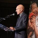 Sir Patrick Stewart Attends International Rescue Committee's Freedom Award Dinner