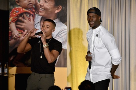 Nico and Vinz at the International Rescue Committee's annual Freedom Award Dinner
