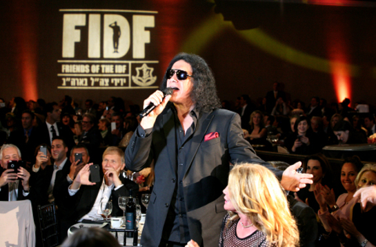 Gene Simmons at Friends of the Israel Defense Forces (FIDF) Western Region Gala