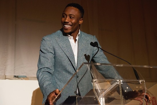 Brandon Marshall at Seeds Of Hope gala