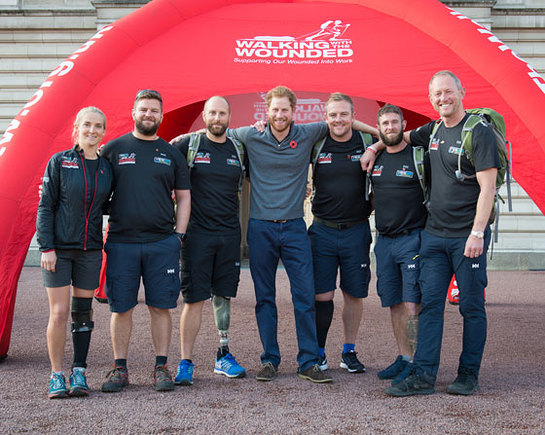 Prince Harry welcomes WWTW's Walk of Britain to Buckingham Palace