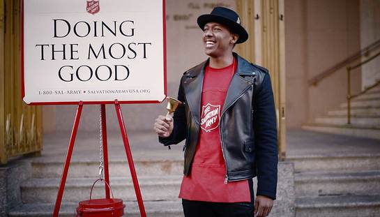 Nick Cannon and The Salvation Army invite supporters to enter for the chance to participate in The Salvation Army Giving Spree