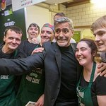 George Clooney Visits Charity Cafe In Scotland
