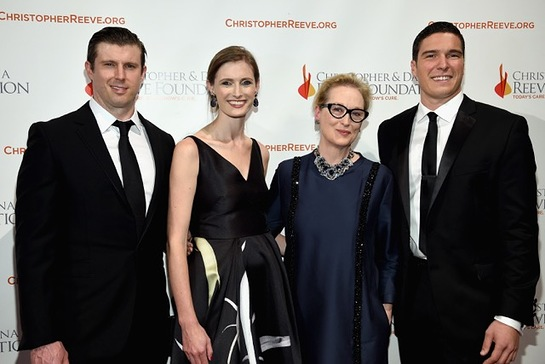 Meryl Streep With Matthew, William and Alexandra Reeve Givens