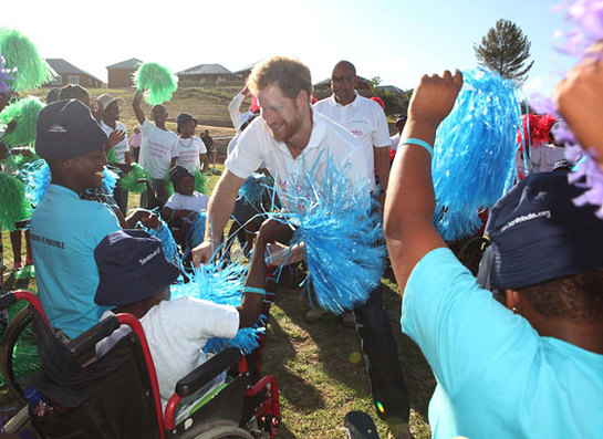Prince Harry meets children supported by his charity Sentebale