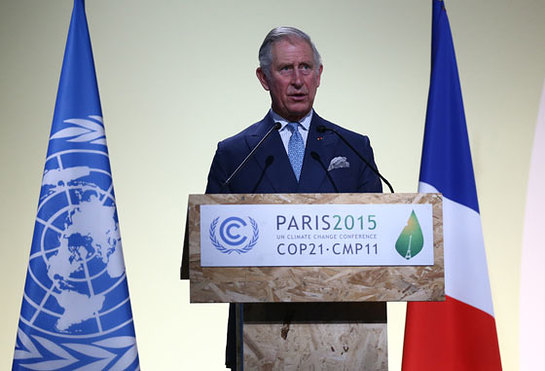 The Prince of Wales makes a keynote speech at the opening session of COP21 in Paris