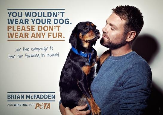 BRIAN MCFADDEN STARS IN NEW PETA AD