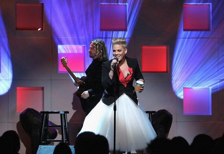 P!nk performs on stage at the 11th Annual UNICEF Snowflake Ball