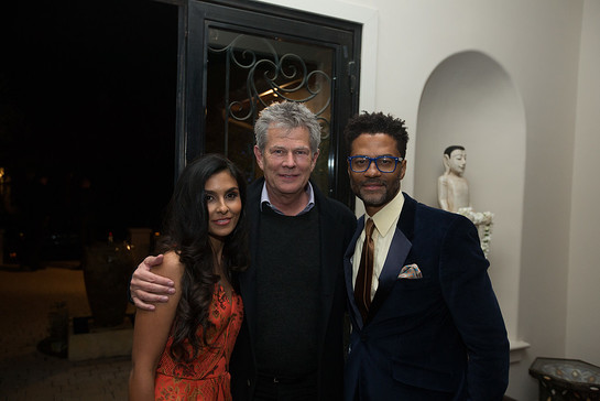 Manuela Testolini, David Foster and Eric Benet at the In A Perfect World 10th Anniversary event.