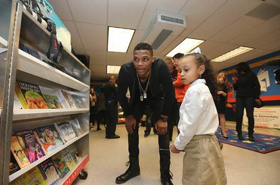 Russell wants every child to have books at home