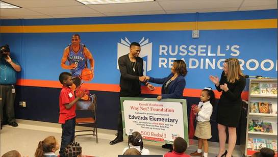 Russell Westbrook covered the cost of the books for the children