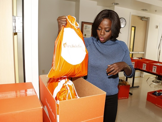 Viola Davis helps out as an advocate for the Vaseline Healing Project with Direct Relief at Eisner Pediatric and Family Medical Center
