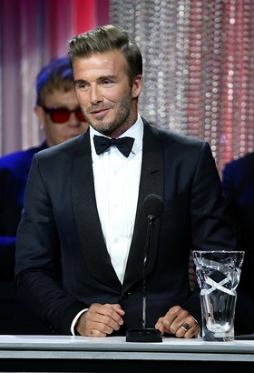 David Beckham speaks onstage during the Sixth Biennial UNICEF Ball