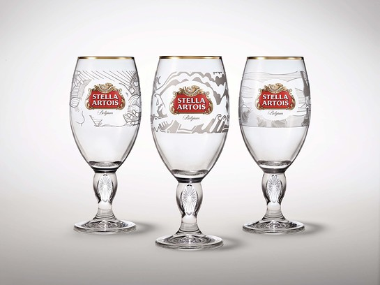 Stella Artois will release a new set of limited-edition Chalices designed by three artists from Kenya, Peru and Haiti