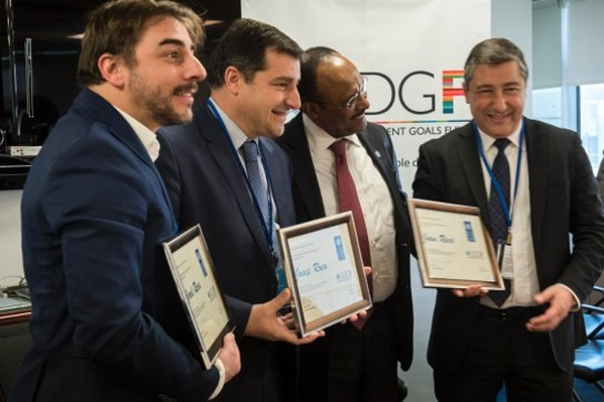 Jordi Roca, Josep Roca, UNDP Associate Administrator Tegegnework Gettu, and Joan Roca