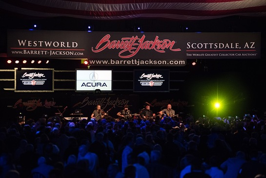 Zac Brown Band played during Barrett-Jackson's annual gala at WestWorld of Scottsdale