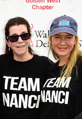 Nanci Ryder and Renee Zellweger of Team Nanci at The ALS Association Golden West Chapter's Los Angeles Walk to Defeat ALS.