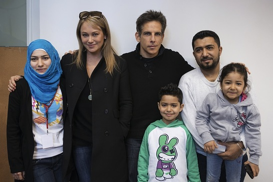 Ben Stiller and Christine Taylor Visit Refugee Families
