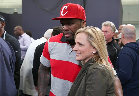 50 Cent and Super Bowl 50 U.S. National Anthem performer Marlee Matlin