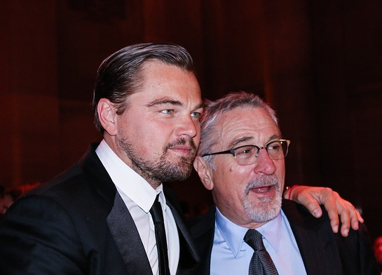 Leonardo DiCaprio and Robert De Nero