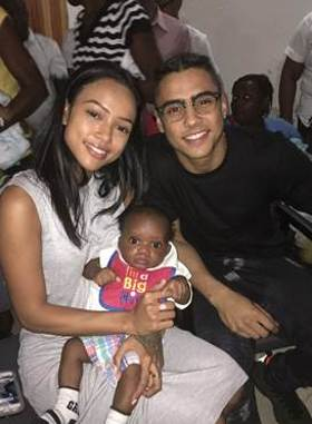 Karrueche Tran and Quincy Brown visit Smile Train patients at local hospital Cap Haitien, Haiti.