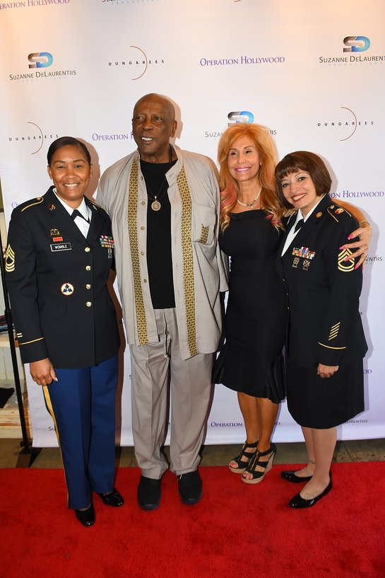 Sergeant First Class Martha Leone Assistant Inspector General, and Master Sergeant Kieon Womble Assistant Inspector General, Louis Gossett Jr., Suzanne DeLaurentiis