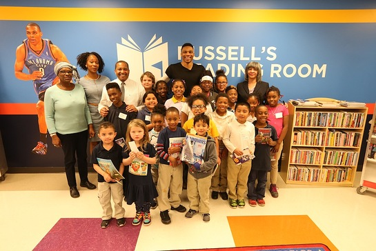 Russell Westbrook Launches 9th Reading Room in Oklahoma City