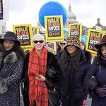 Annie Lennox Joins Mother's Day Walk In London
