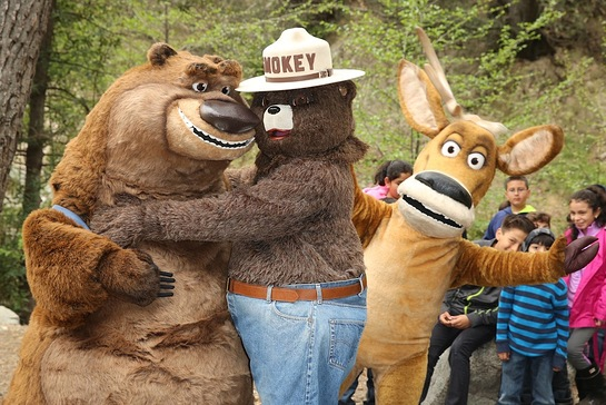 Smokey Hugs Boog and Elliot