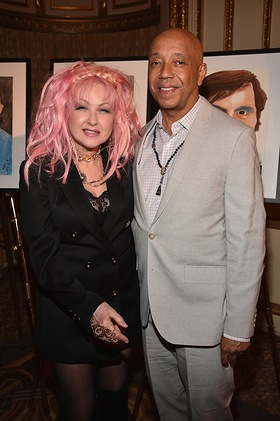 Cyndi Lauper and Russell Simmons