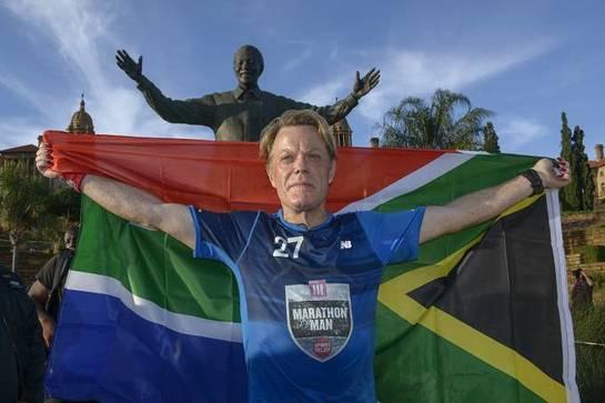 Eddie Izzard Completes Marathon Challenge