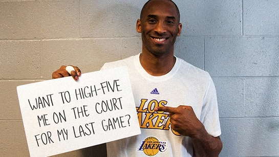 High Five Kobe Bryant