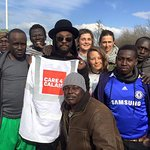 will.i.am Visits Refugees In Calais