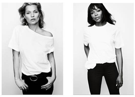 Kate Moss and Naomi Campbell for Fashion Targets Breast Cancer 2016