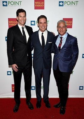 Pete Nowalk, Jorge Valencia and Greg Louganis