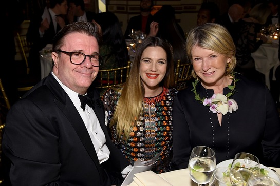 Nathan Lane, Drew Barrymore and Martha Stewart