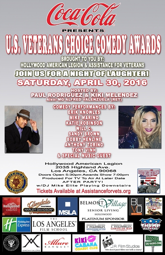 Coca-Cola Presents U.S. Veterans Choice Comedy Awards Brought to You by Hollywood American Legion & Assistance for Veterans