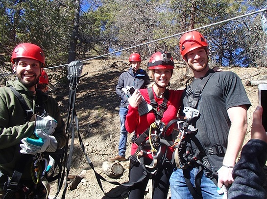 Brooklyn zip-lining with two lucky winners selected on Omaze, the experience driven fundraising platform.