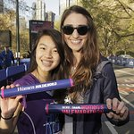 Stars Mentor Girls At 13th Annual MORE/SHAPE Women's Half-Marathon