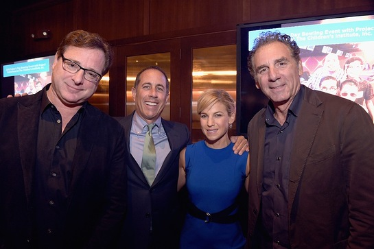Bob Saget, Jerry Seinfeld, Jessica Seinfeld, Michael Richards