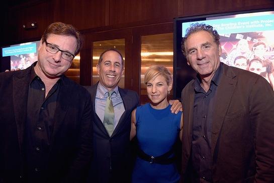Bob Saget, Jerry Seinfeld, Jessica Seinfeld, Michael Richards