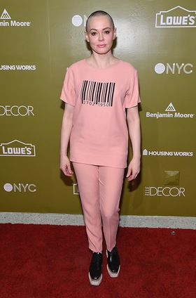 Rose McGowan attends 2016 Housing Works Design On A Dime