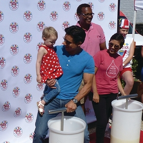 Mario Lopez Stomps Lemonade with Kylie, a Three Year Old Fighting Cancer