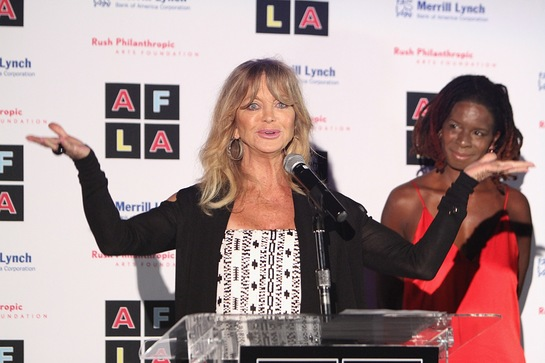 Goldie Hawn At Rush Philanthropic Arts Foundation's Inaugural Art for Life Los Angeles