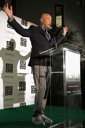 Russell Simmons At Rush Philanthropic Arts Foundation's Inaugural Art for Life Los Angeles