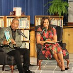 Michelle Obama Hosts Storytime Visit At Thayer Elementary School