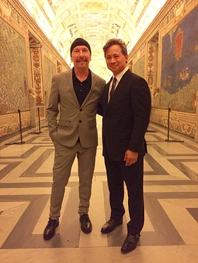 The Edge of U2 and Dr. William Li at the Vatican